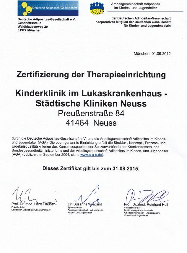 Lukaskrankenhaus Neuss - Einrichtungen intern